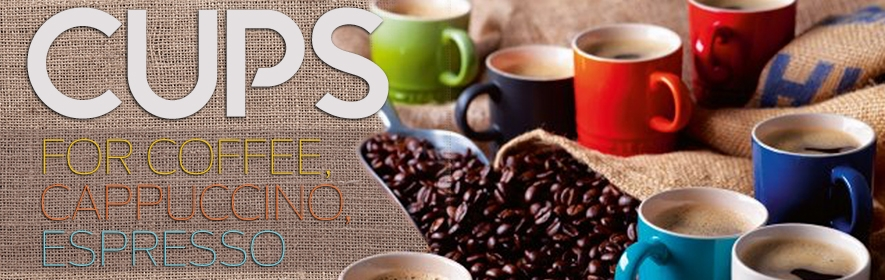 Coffee Cups, Glasses & Mugs