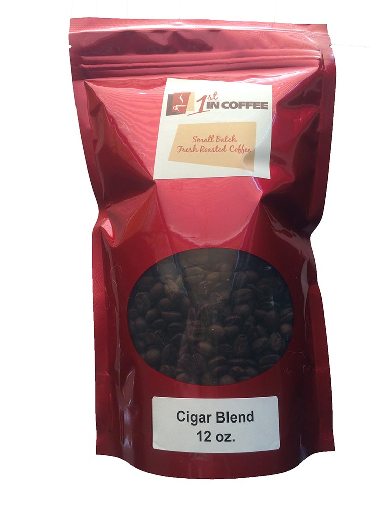 Cigar Blend Coffee Fresh Roasted 12 Oz Whole Bean Coffee