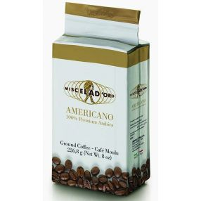 Miscela d'Oro Americano Ground Coffee - 8 oz. brick
