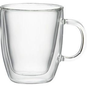 Bodum Bistro 10 oz. Double Wall Glass Mugs