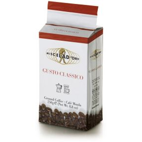 Miscela d'Oro Gusto Classico Ground Coffee - 8.8 oz. brick