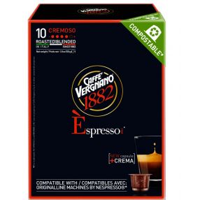Caffe Vergnano Cremosa 10 Nespresso Compatible Capsules