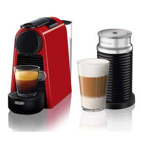 Nespresso Essenza Mini with Aeroccino Red