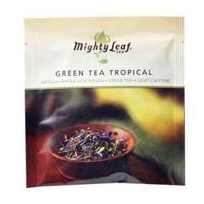 Mighty Leaf Green Tea Tropical 100 pouches foil wrapped