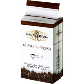 Miscela d'Oro Gusto Espresso Ground Coffee - 8.8 oz. brick