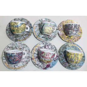Rauschenberg 1996 Set of 6 Espresso Cups
