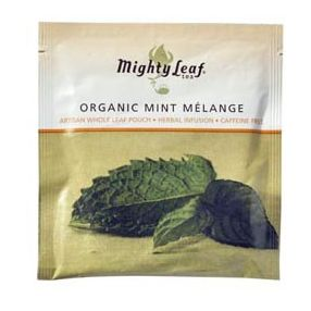 Mighty Leaf Organic Mint Melange 100 pouches foil wrapped
