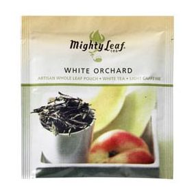Mighty Leaf White Orchard 100 pouches foil wrapped