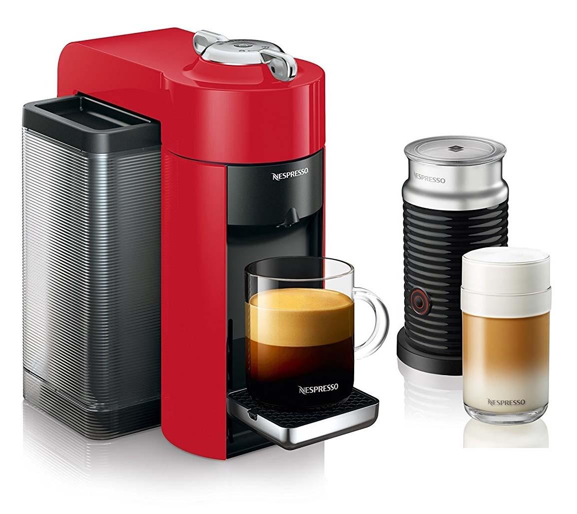 nespresso evoluo with aeroccino by delonghi capsule espresso machine. Black Bedroom Furniture Sets. Home Design Ideas