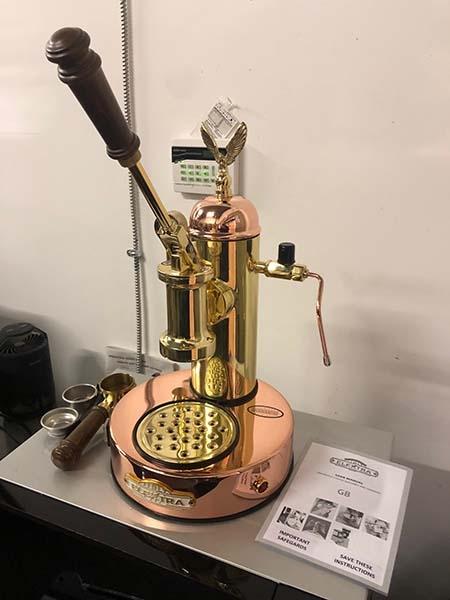Elektra Microcasa S1 Lever Copper And Brass Open Box