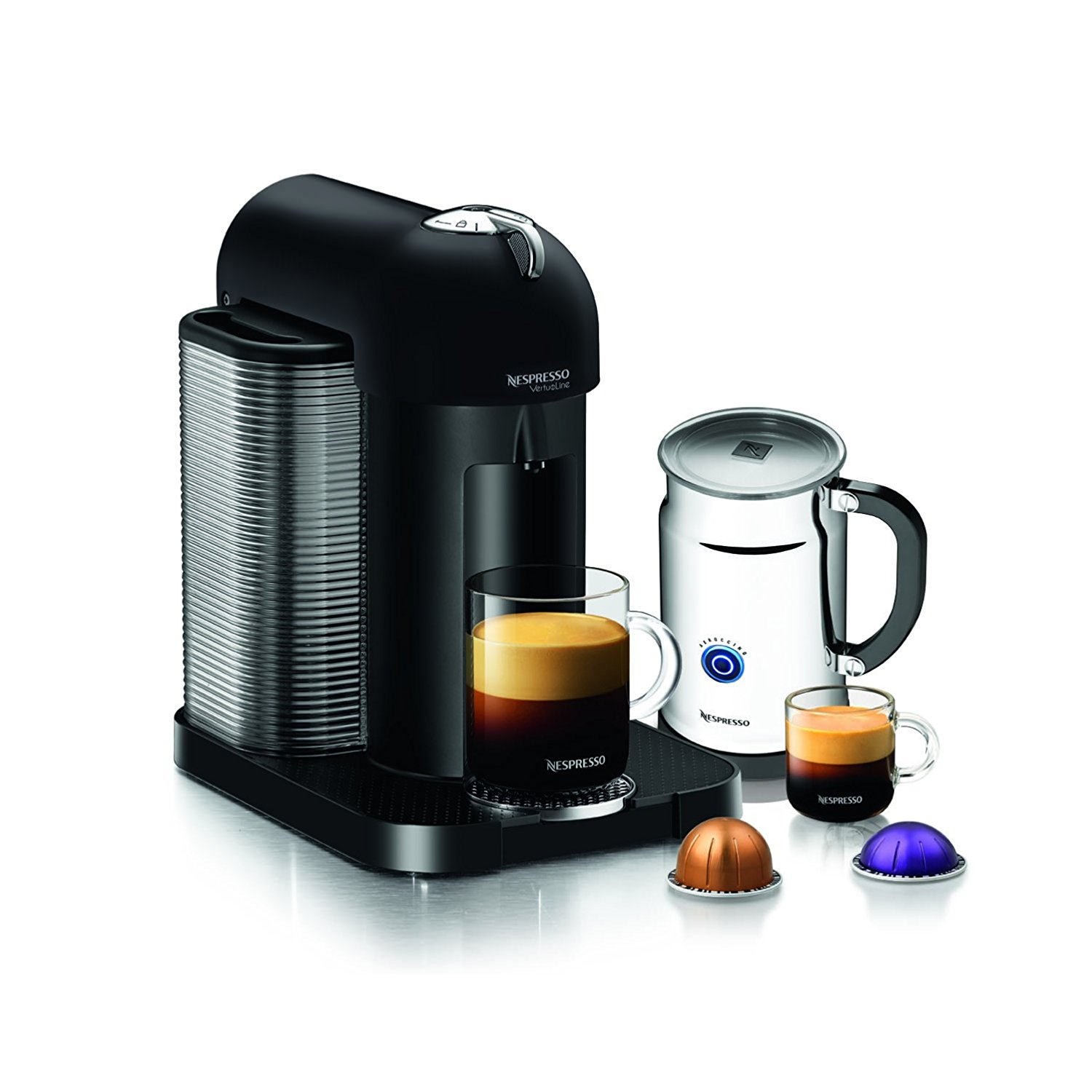 Nespresso Vertuoline Aeroccino Single Serve Coffee And