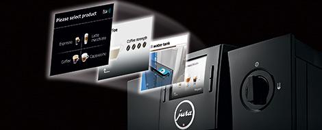 Jura F8 TFT Display